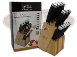 HEN & ROOSTER International 15 Piece Black Rubber Kitchen Block Set - HRI038 14PC | 14PC - 026615685579