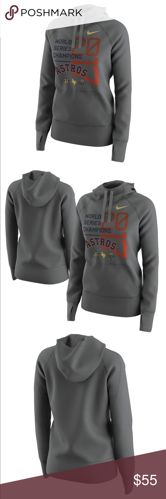 promo code 7b9d6 6a932 Nike Astros 2017 World Series Pullover Hoodie Sz M Houston ...