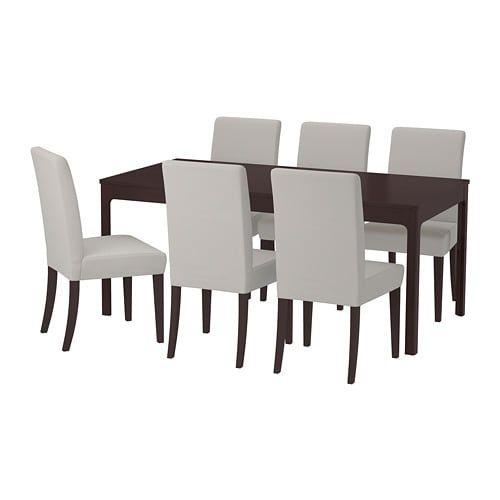 Peachy Ekedalen Henriksdal Table And 6 Chairs Dark Brown Dailytribune Chair Design For Home Dailytribuneorg