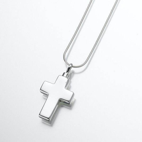 Large silver cross cremation pendant cremation jewelry pendants large silver cross cremation pendant oneworld memorials aloadofball Images