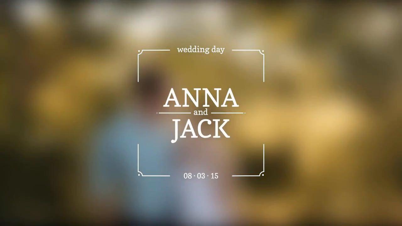 Wedding Titles Wedding Titles Wedding Invitation Video Wedding Slideshow Template