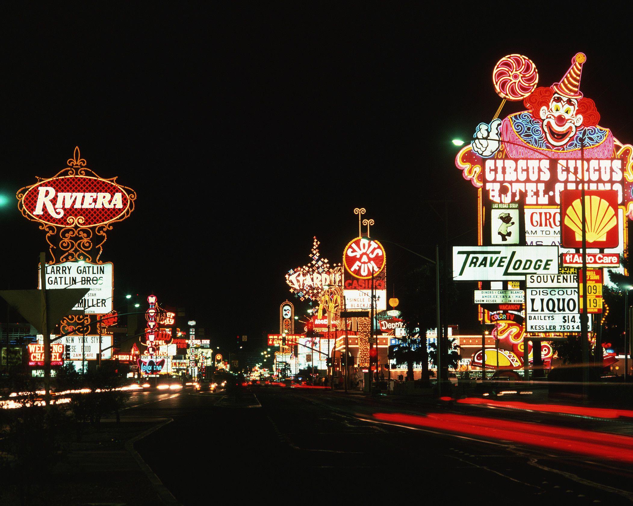 A picture of the Las Vegas Strip circa 1990  Castle Construction