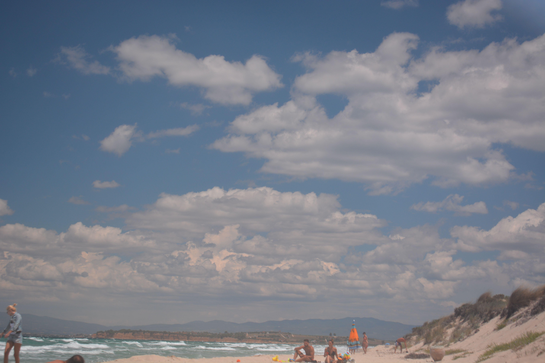 Cloudy sky in summer Sani, Greece