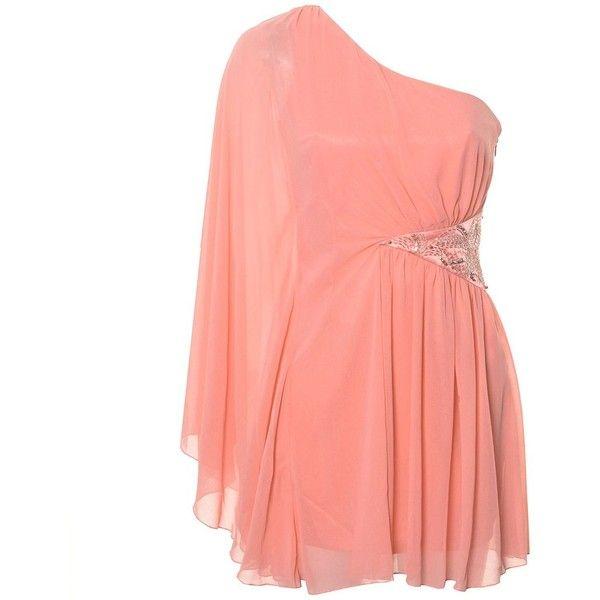 Lipsy One Sleeve Embellished Dress ($54) ❤ liked on Polyvore ...