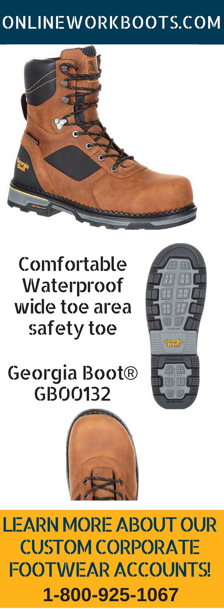 133d90dcc30 Georgia Boot GB00132 HD Composite Toe Waterproof 8