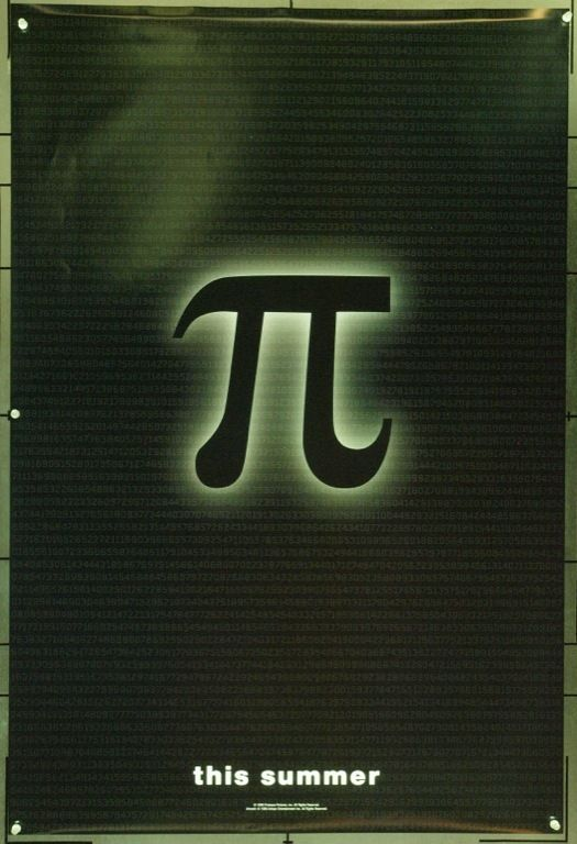MovieArt Original Film Posters - PI (1998) 22009, $50.00 (http://www.movieart.com/pi-1998-22009/)