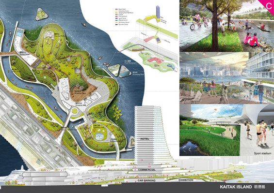 Kai Tak Fantasy Competition Winner Healthy Lift Off 1 #hongkong #design #competition #landscape #architecture #urbanism