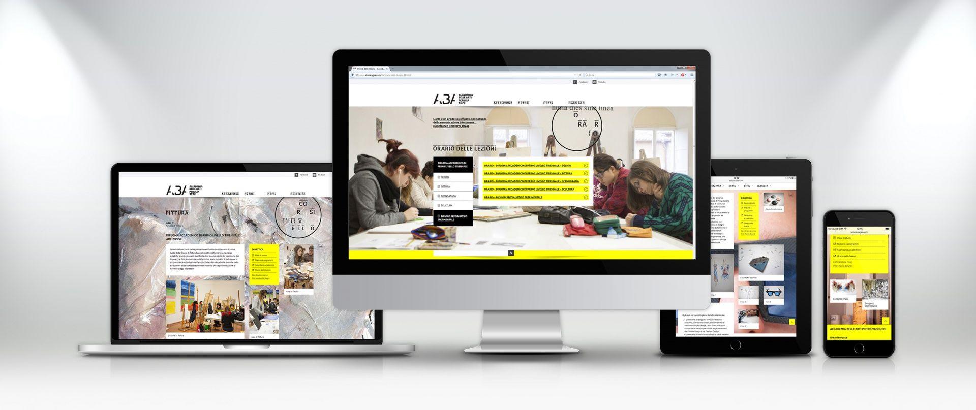 ABA - Accademia delle Belle Arti di Perugia. An iconic design for a stunning website.  Check it out --> http://www.sesinet.com/it/realizzazione-app-perugia_3/siti-design-responsive-perugia_15.html