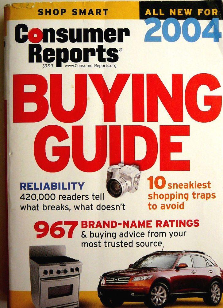 Consumer Reports 2004 Cars Ing Guide Repair Ratings Entertainment Liances