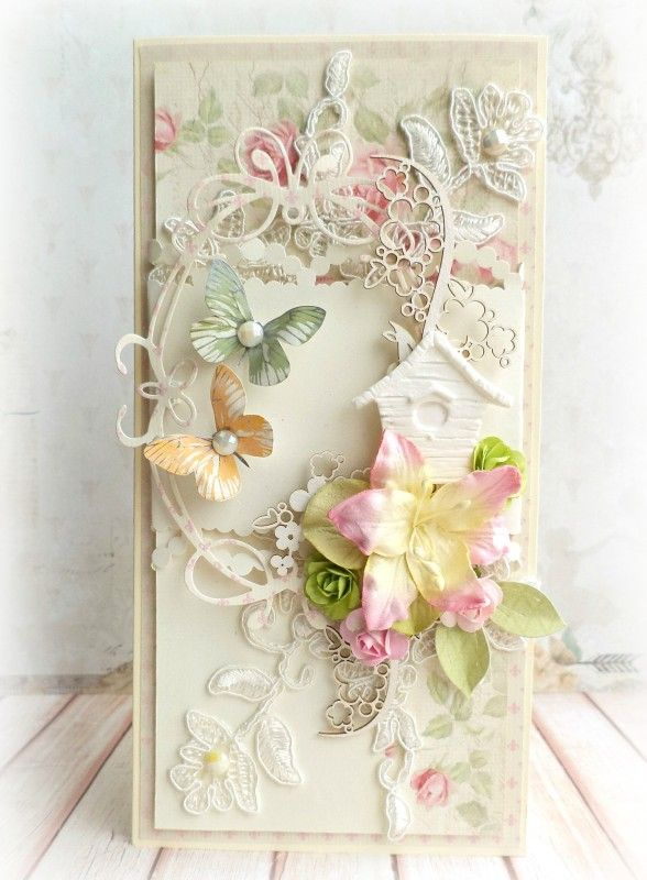 A spring card by Mariusz using the Paris Flea Market collection