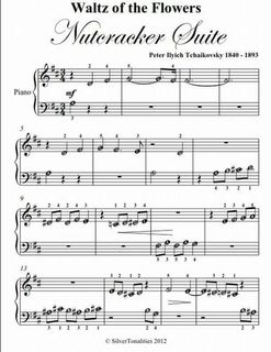 Waltz Of The Flowers Nutcracker Suite Beginner Piano Sheet Music