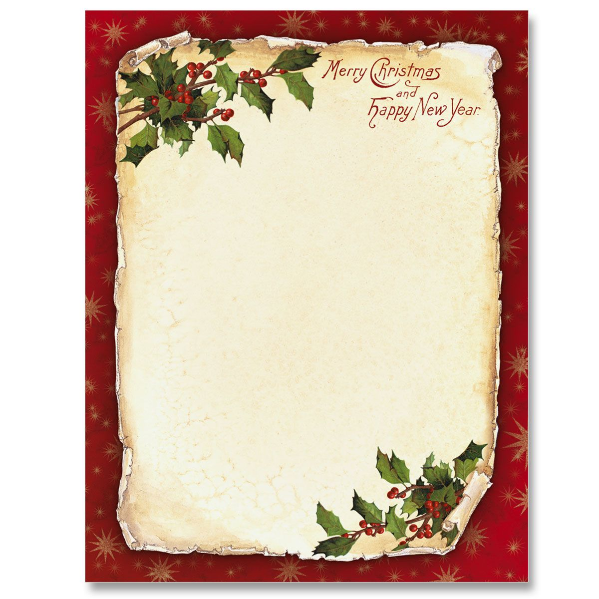 Old Fashioned Holly Border Papers Borders for paper