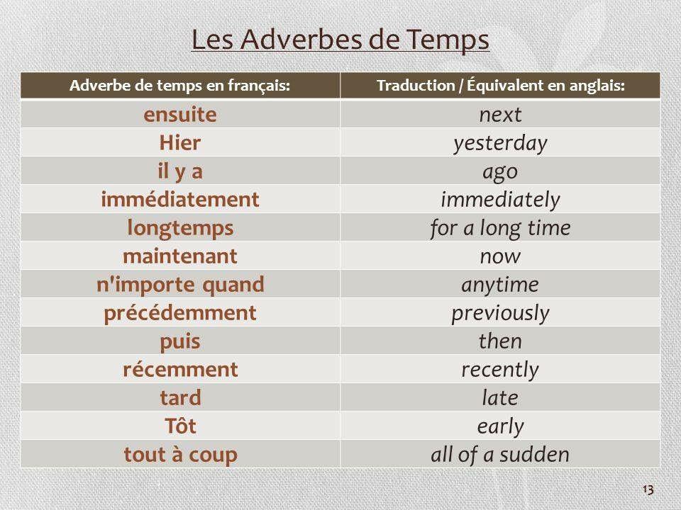 Epingle Par Miss Moon Sur La Langue Francaise Adverbe De Temps Les Adverbes Apprendre L Anglais