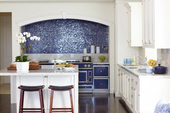 Blue & White Kitchen  Kitchen  TraditionalNeoclassical  Transitional by St Charles of New York