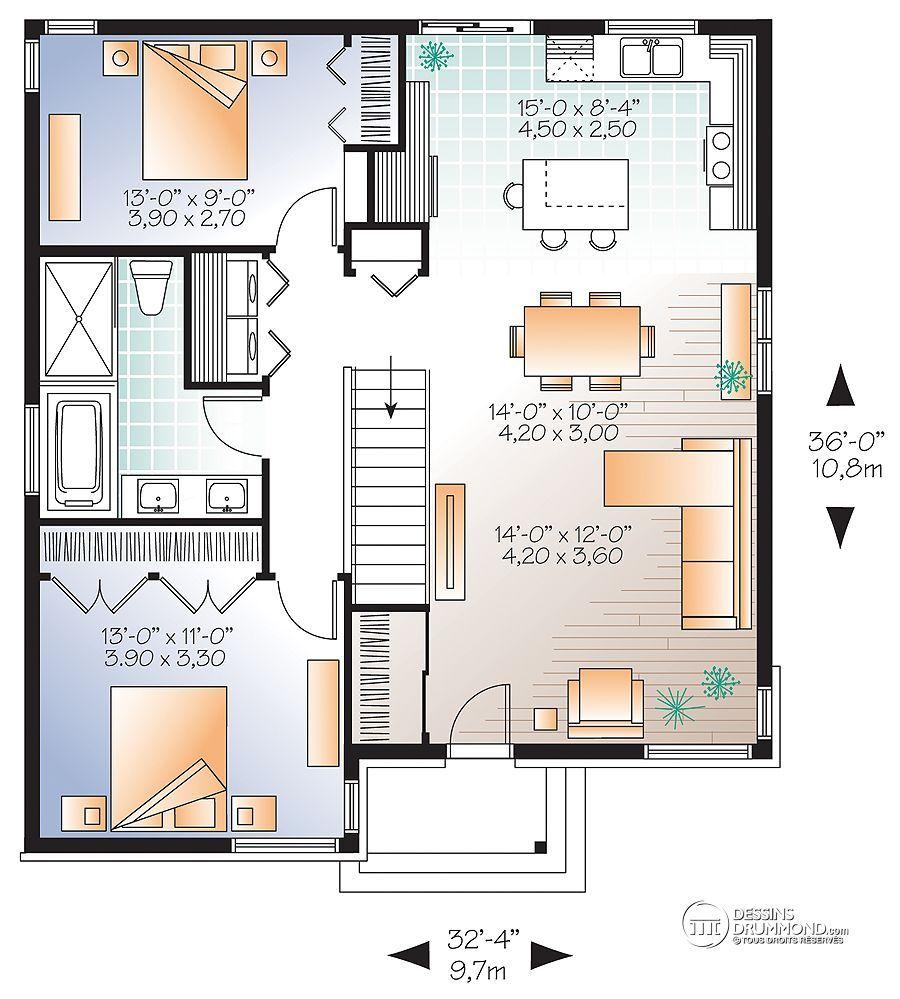 plan de maison 28 x 30