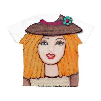 Gloria Doll Smiling. Kid's All Over Print T-Shirt