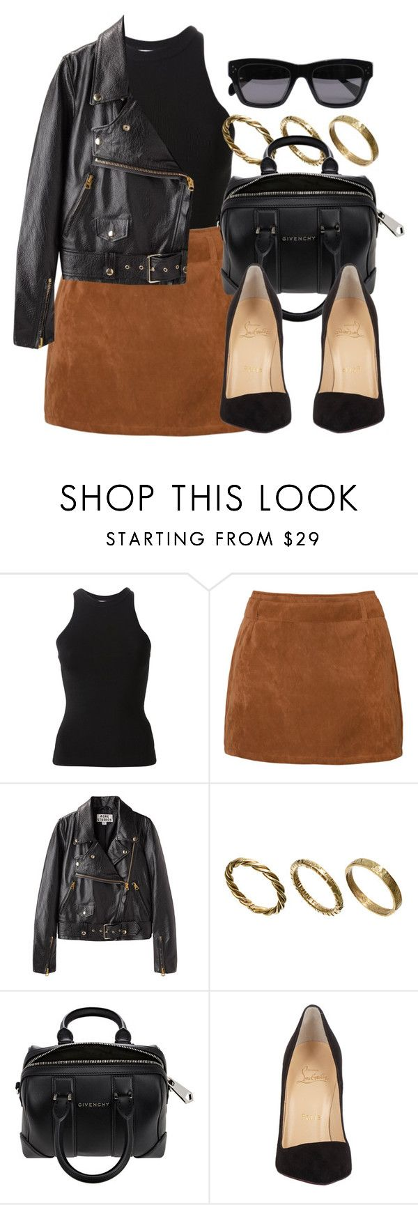 """""""Style #11279"""" by vany-alvarado ❤ liked on Polyvore featuring T By Alexander Wang, Acne Studios, Made, Givenchy, Christian Louboutin and CÉLINE"""