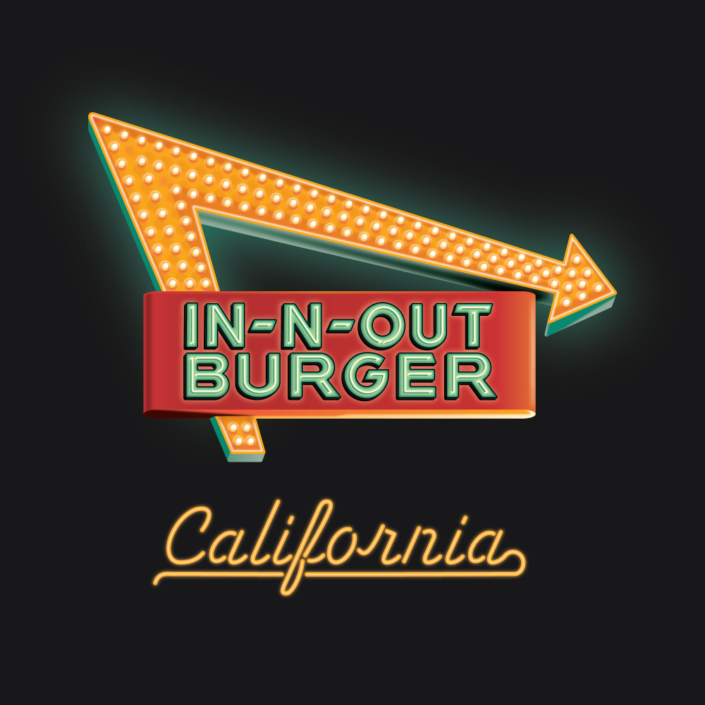 In N Out Burger 2021 Official T Shirt Dkng Dkng In N Out Burger Iconic Artwork