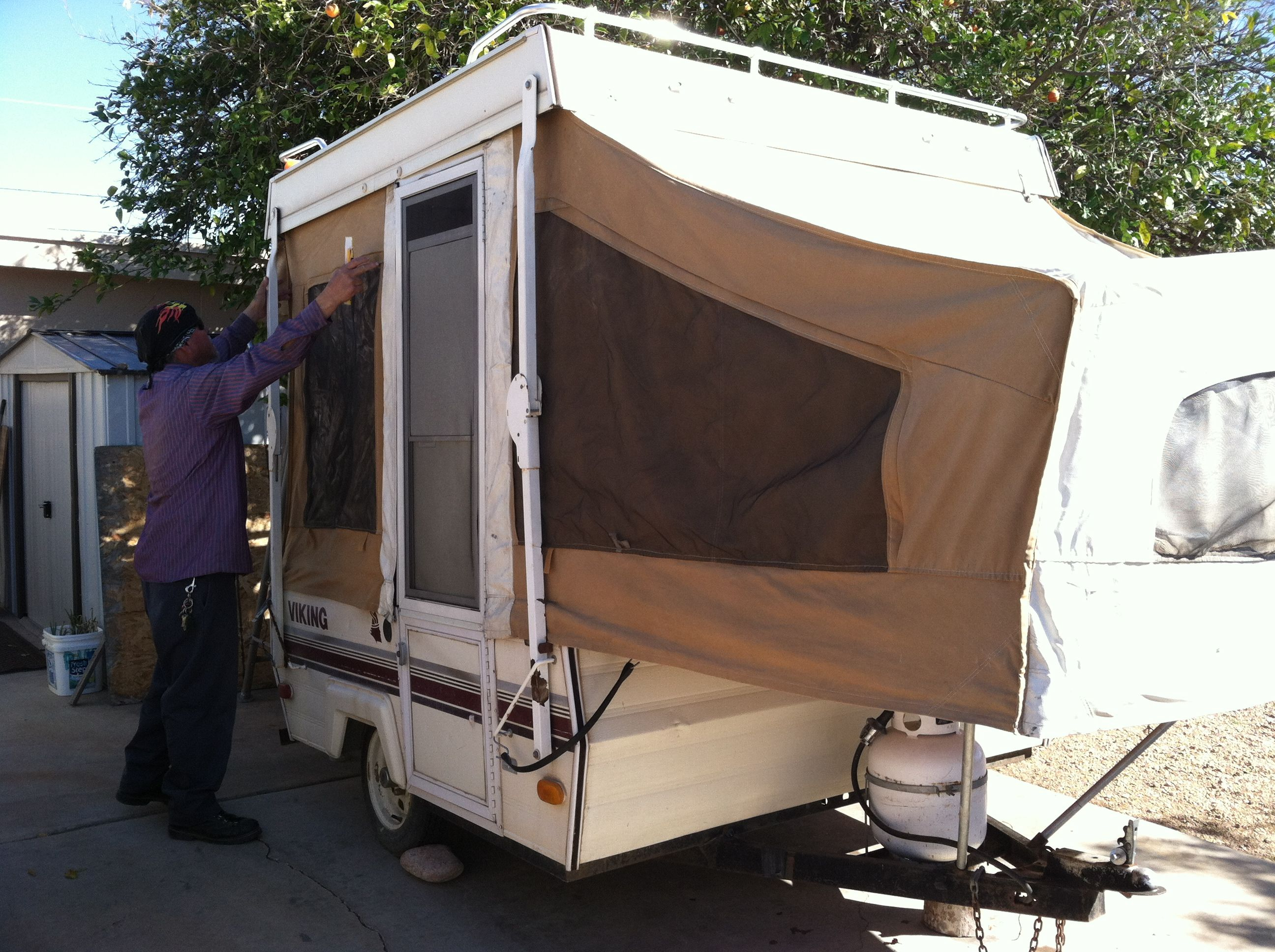 Small Pop Up Tent Trailer Has Sink Small 2 Burner Stove