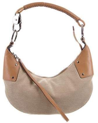 d22743f0d228 $195, GUCCI Leather Trimmed Hobo with gunmetal hardware #bags #shoulderbag  #handbags #bolsos #gucci #affiliate #shopstyle #mystyle #womensfashion
