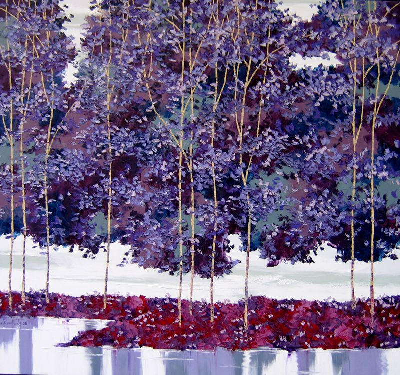 Artist - Lim Khim Katy Title - Sun Wind Water (04) Media - Oil on Canvas Size - 125 x 135cm Status - Available