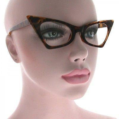 cad23c4102 CLASSIC-VINTAGE-50-039-s-RETRO-CAT-EYE-Style-Clear-Lens-EYE-GLASSES -Tortoise-Frame