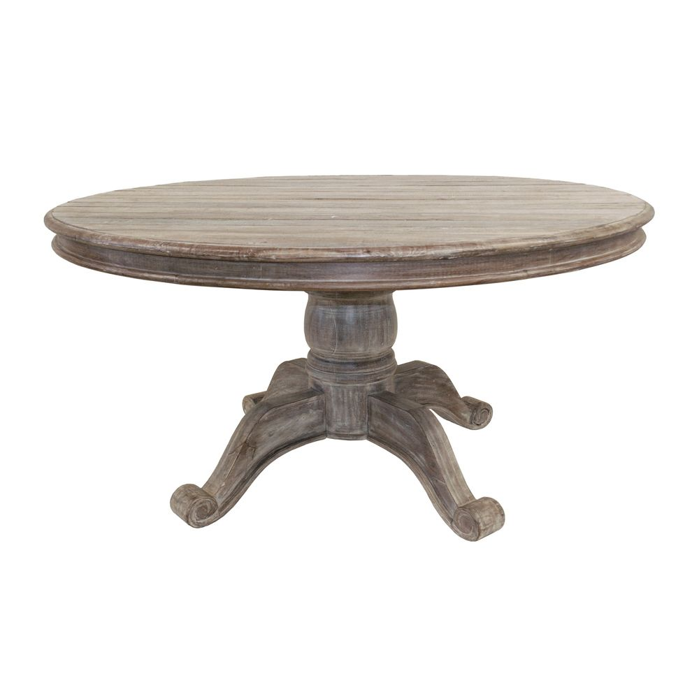 Hamshire Round Dining Table Inch Overstockcom - 60 inch rustic dining table