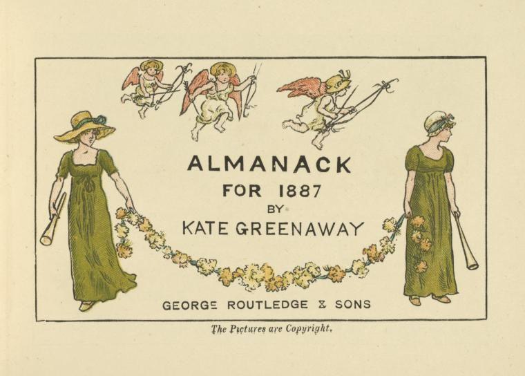 Kate Greenaway's Almanack for 1887