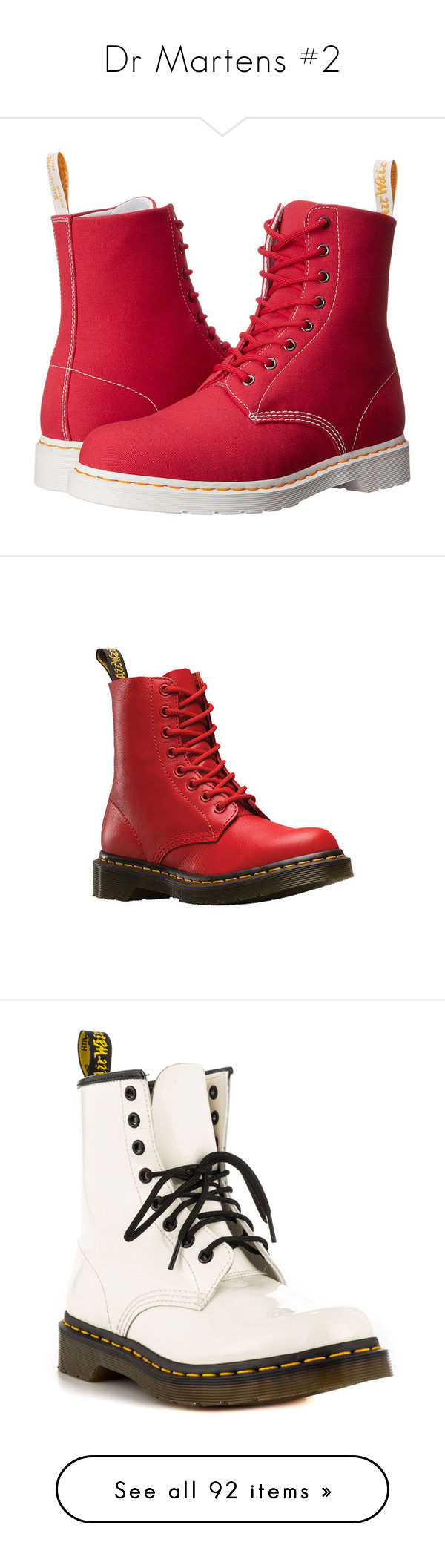 """""""Dr Martens #2"""" by oxwhatsernamexo ❤ liked on Polyvore featuring shoes, boots, ankle boots, lace up boots, lace up bootie, canvas shoes, long boots, slip resistant boots, casual and casual shoes"""