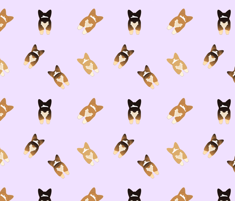 Pembroke Welsh Corgi Butts fabric by colleenscreations on Spoonflower - custom fabric