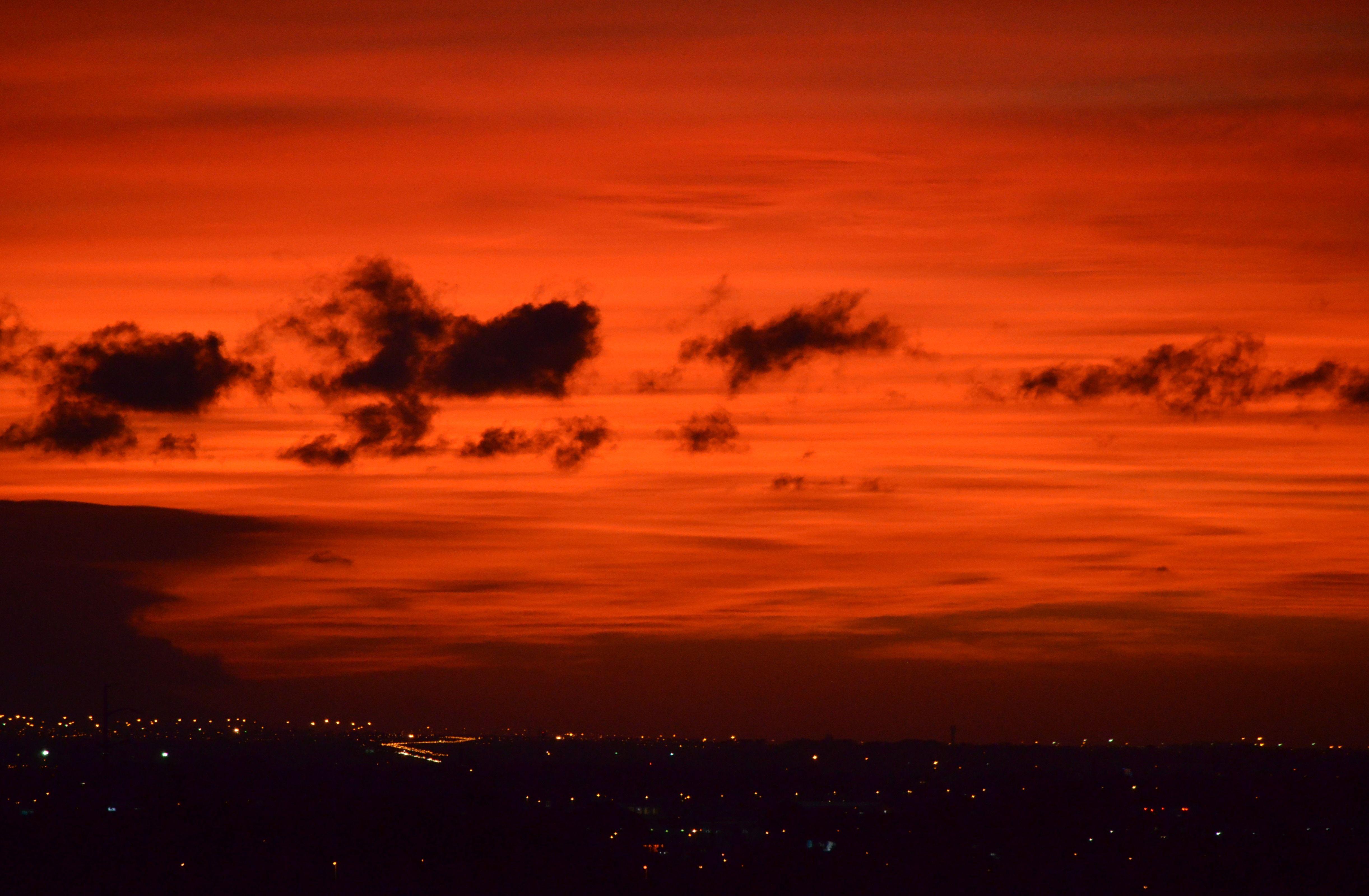 Sunset As Seen From Schapenberg Hill In Somerset West