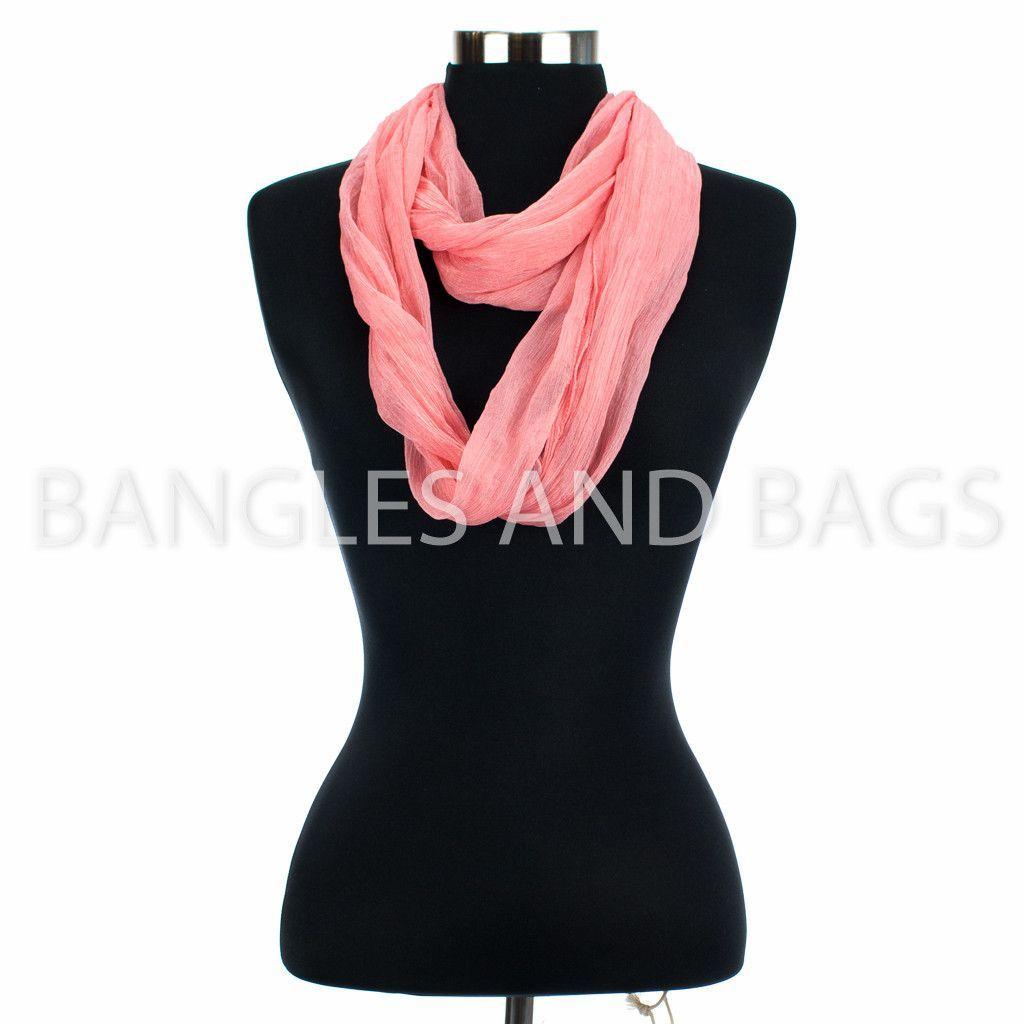 Simply Noelle Sheer Infinity Scarf - Light Pink