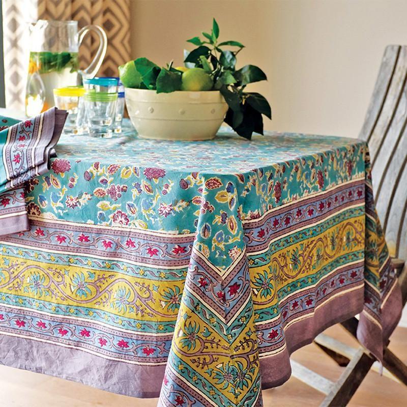French Tablecloth Joy Aqua French Tablecloths Table Cloth