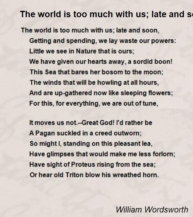 william wordsworth poems