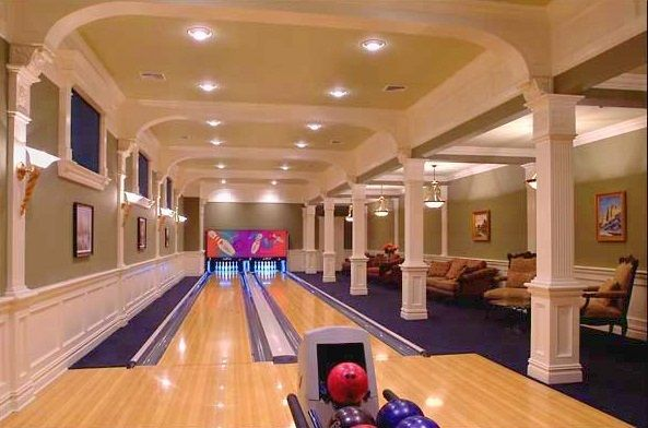 Residential Bowling Alleys By Others Home Bowling Alley Mansions Indoor Bowling Alley