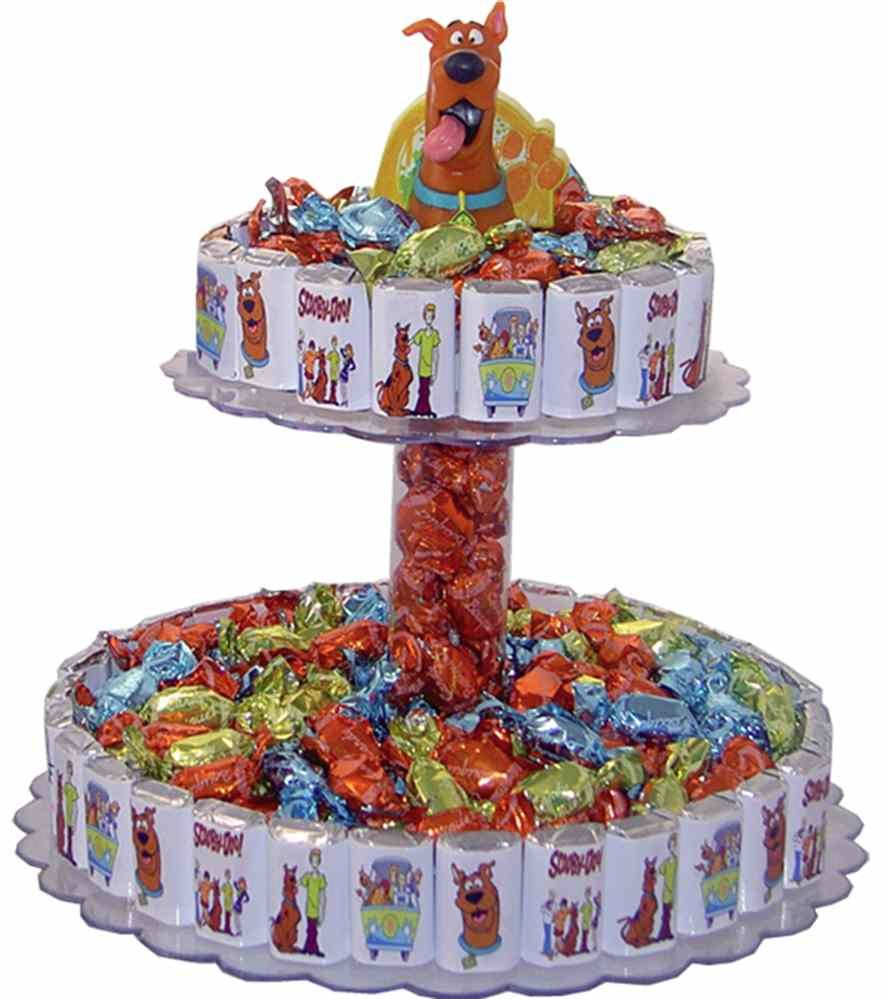 Scooby Doo Baby Shower Theme: Candy Bar Cake - Scooby Doo Theme