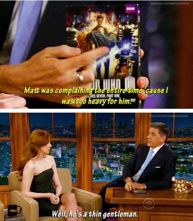 Karen on Craig Ferguson - he cracks me up so bad. :D