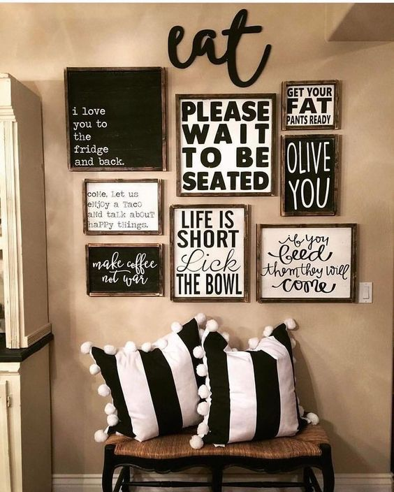 Outstanding Gallery Wall Ideas For Kitchens Dining Room Wall Decor Farmhouse Dining Rooms Decor Decor