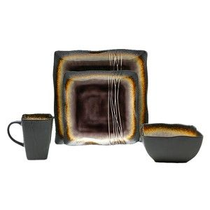 Galaxy Plum 16-pc. Dinnerware Set | Dinnerware and Entertainment ...