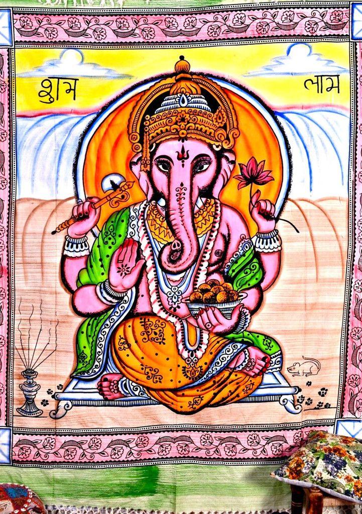 Hippie Ganesha Throw
