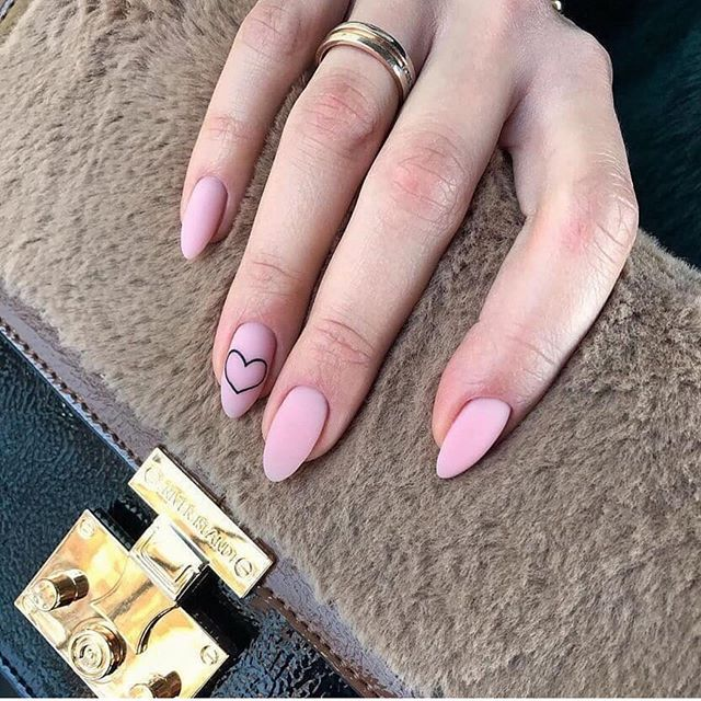 47+ Single Color Matte Nail Design Ideas #mattenails