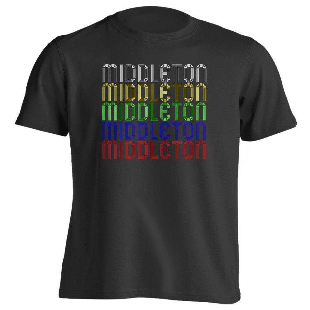 Retro Hometown - Middleton, MA 01949 - Black - Small - Vintage - Unisex - T-Shirt