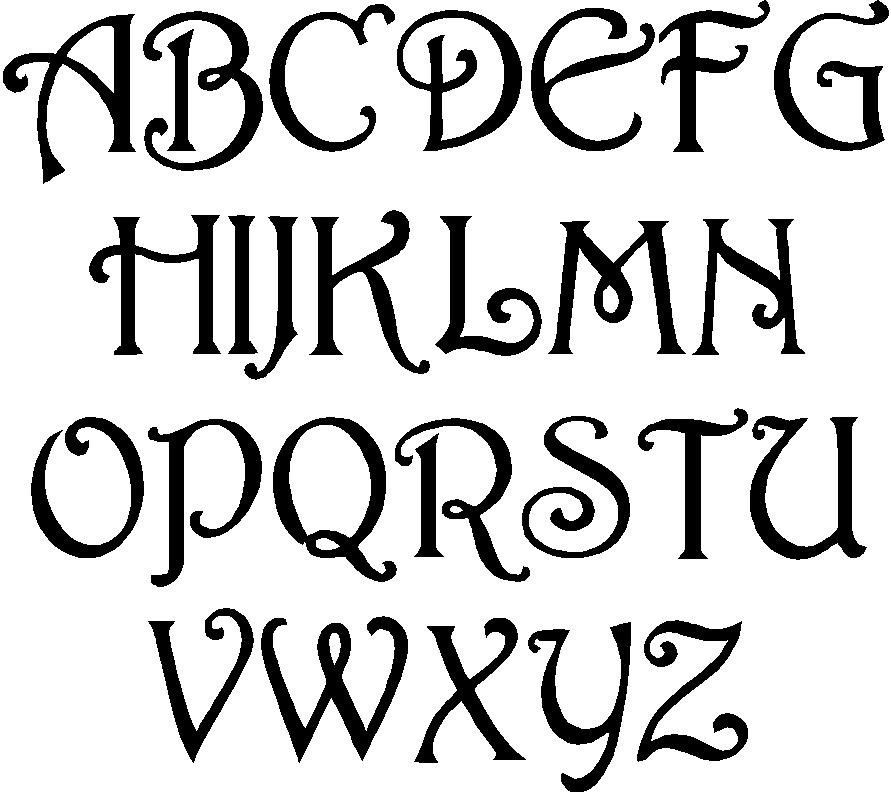 fun free alphabet stencil | Cool Lettering Designs Free Art Deco Templates