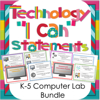 Technology NETS I Can Statements for the Computer Lab: K-5 Bundle  from Washburn's Room on TeachersNotebook.com -  (120 pages)  - Technology I Can Statements for the K-5 Computer Lab. Perfect for displaying what skills you are currently working on. $