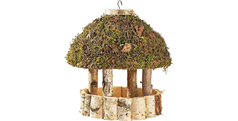 Vogelfutterhaus Birke Mit Moosdach Rund Kaufen Bei Obi Vogelfutterhaus Futterhaus Vogel Vogel