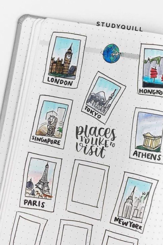 20 Polaroid Inspired Bujo Spreads