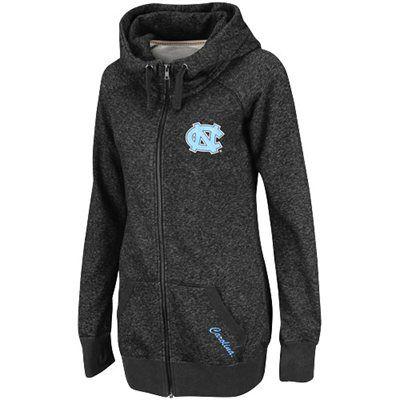 North Carolina Tar Heels (UNC) Ladies Trek Full Zip Hooded Sweatshirt - Charcoal