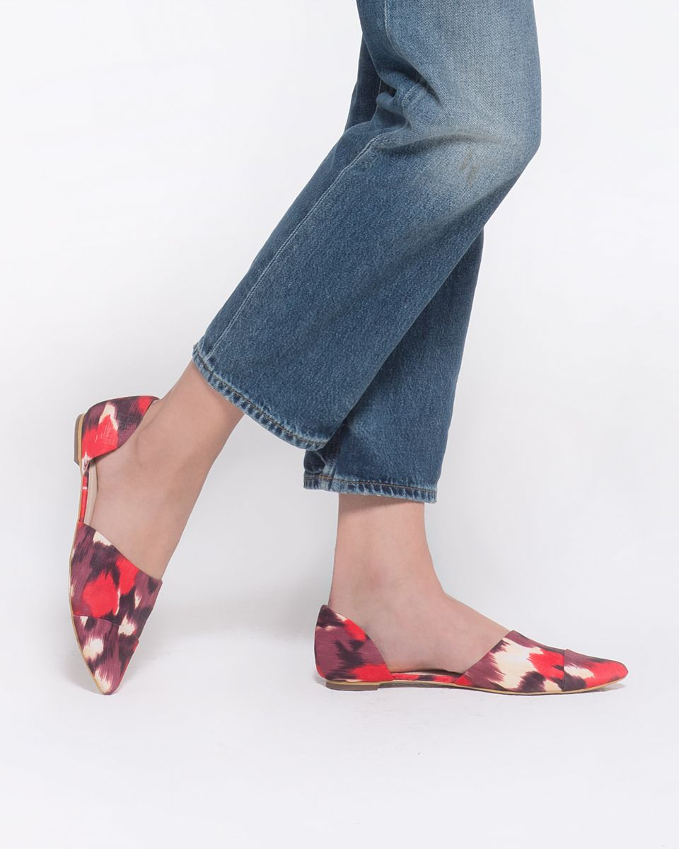 Red ikat audrey flats crazy shoes i love my shoes me