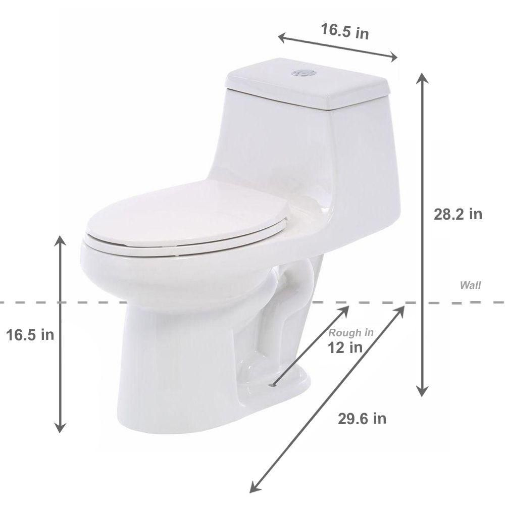Glacier Bay 1 Piece 1 1 Gpf 1 6 Gpf High Efficiency Dual Flush