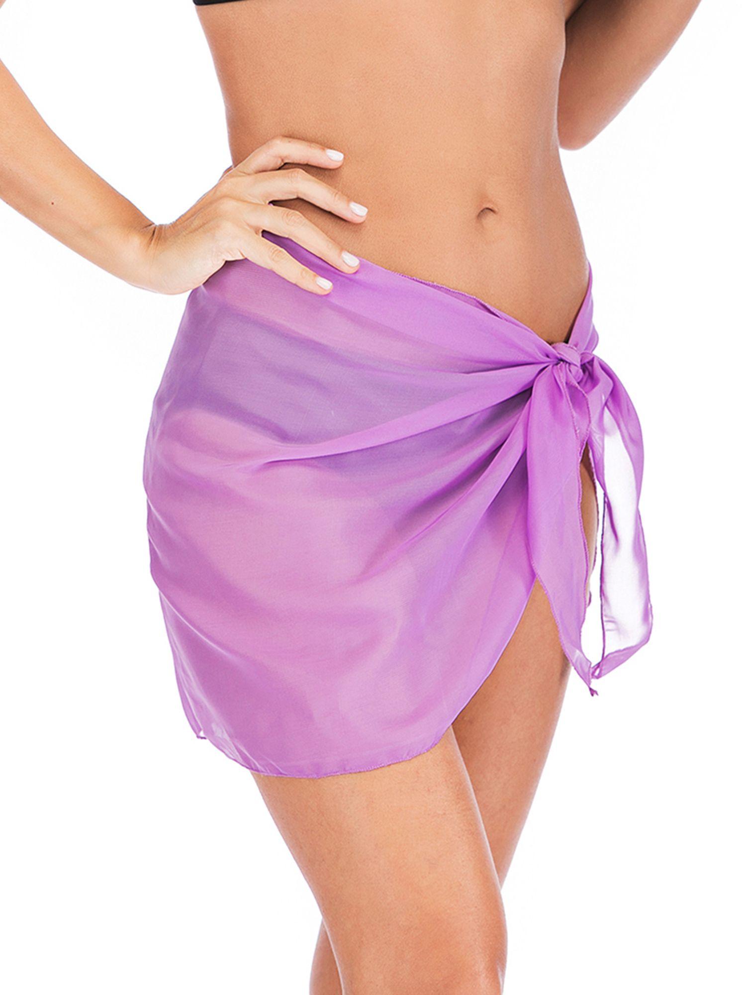 e8108d12f4 SAYFUT Swimwear Chiffon Bikini Cover up Beach Short Pareo Sarong Wrap Soild  Color Swimsuit Cover-up#Bikini, #Cover, #Beach
